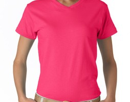 T-Shirt rosa XL Damen V